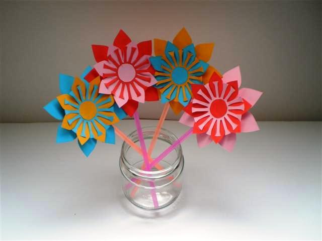 Boeket bloemen knutselen - Volwassen kamer schilderij idee ...