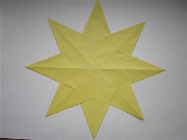 5 puntige ster origami