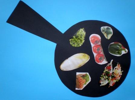 knutselen pan met groente
