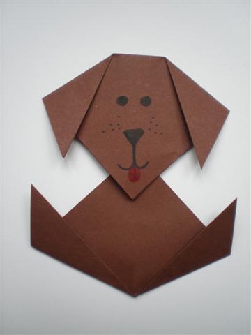 Knutselopdrachten Nl Hondjes Vouwen Instructiepagina