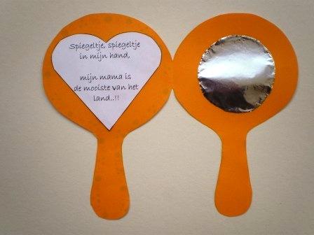 Spiegel knutselen voor moederdag for Spiegel 2 meter
